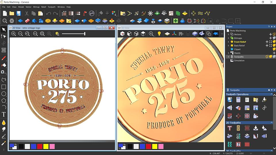 Porto plate, split screen view