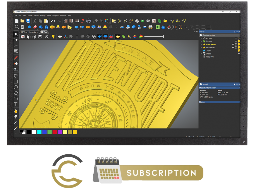 Carveco Subscription Screen