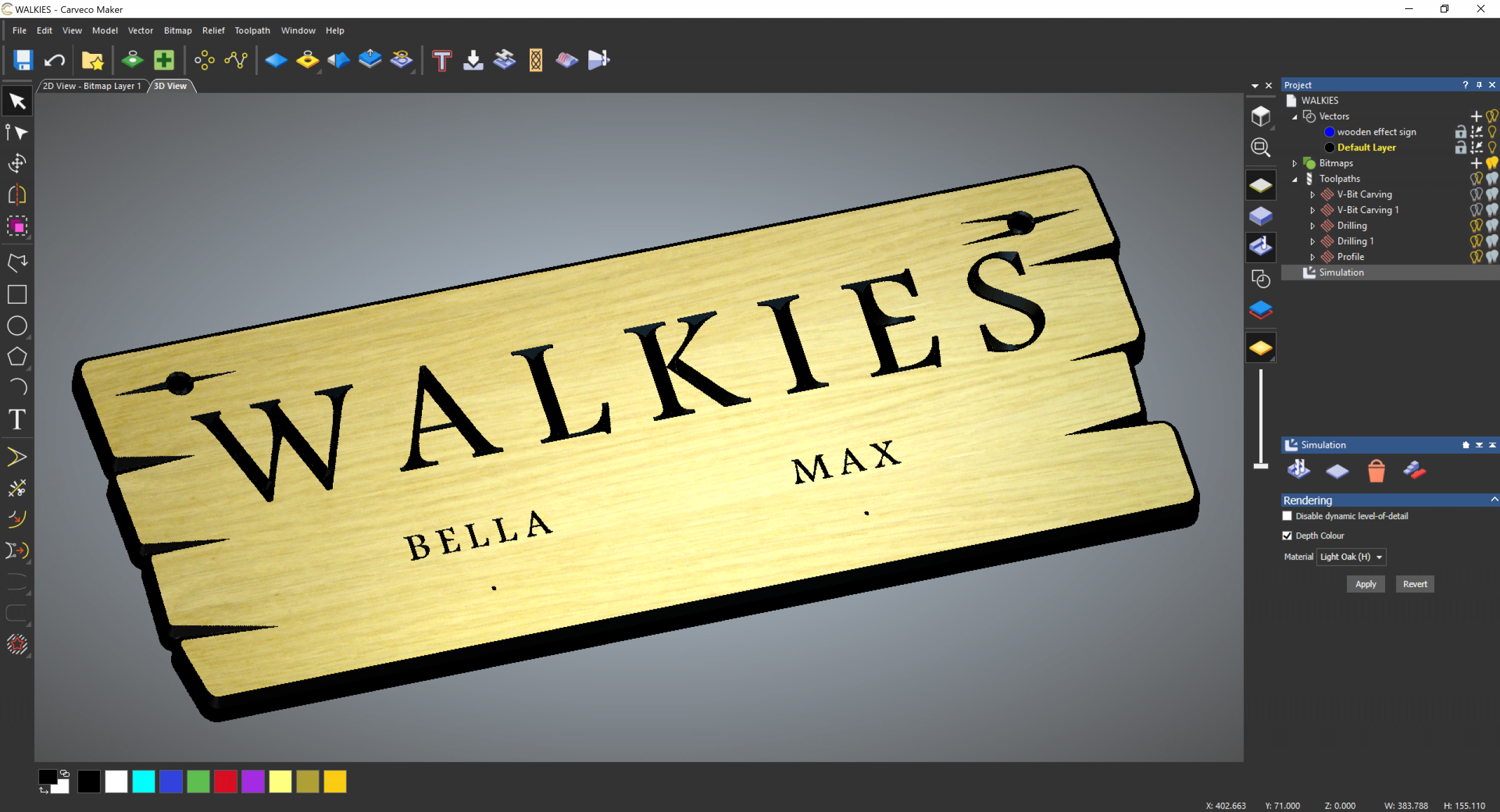 Carveco Maker Project: Walkies Sign