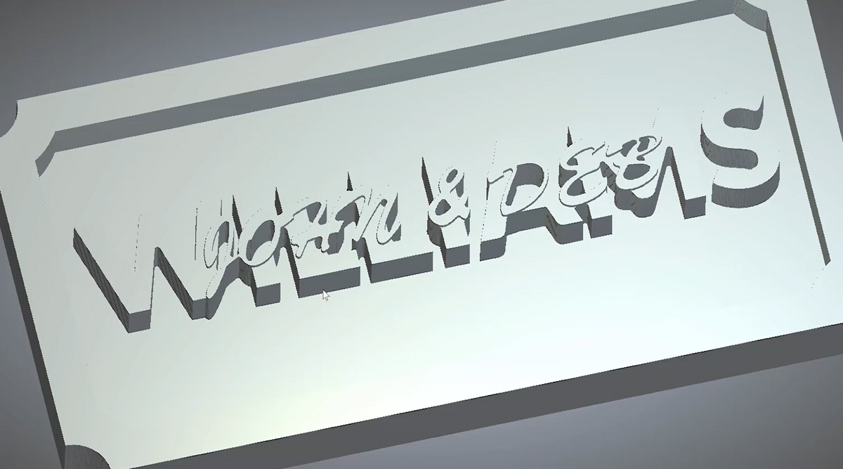 Stacked text sign design