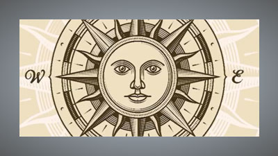 Imported sun and compass points image