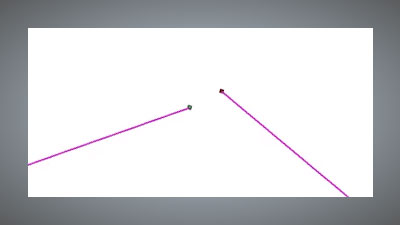 Joining two vector points