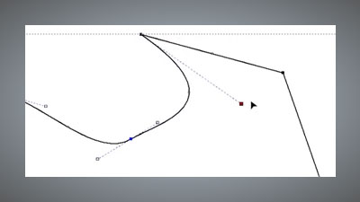 Dynamic vector node editing controls