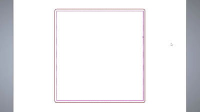 A simple profile toolpath around a square