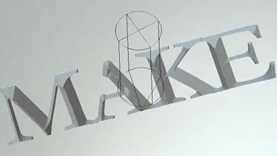 V-bit carving the word MAKE simulation