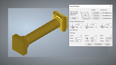 Importing a 3D model into Carveco