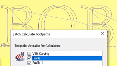 Batch calculating toolpaths in Carveco