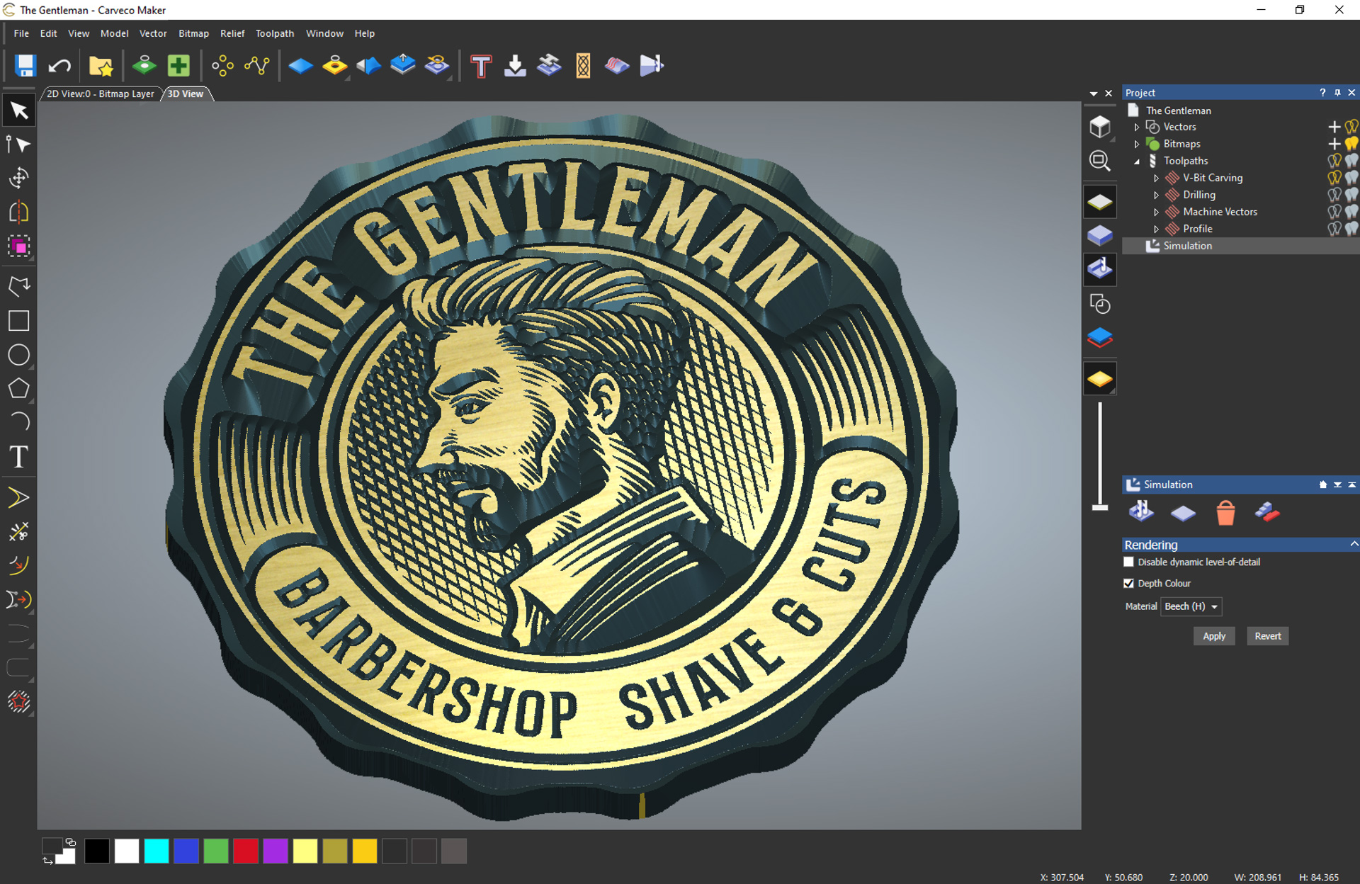 The gentleman - Carveco maker