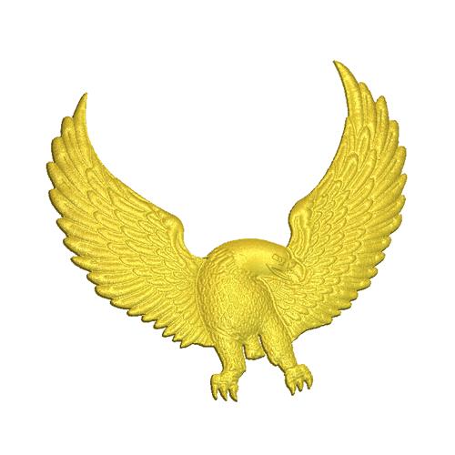 Eagle flying relief model