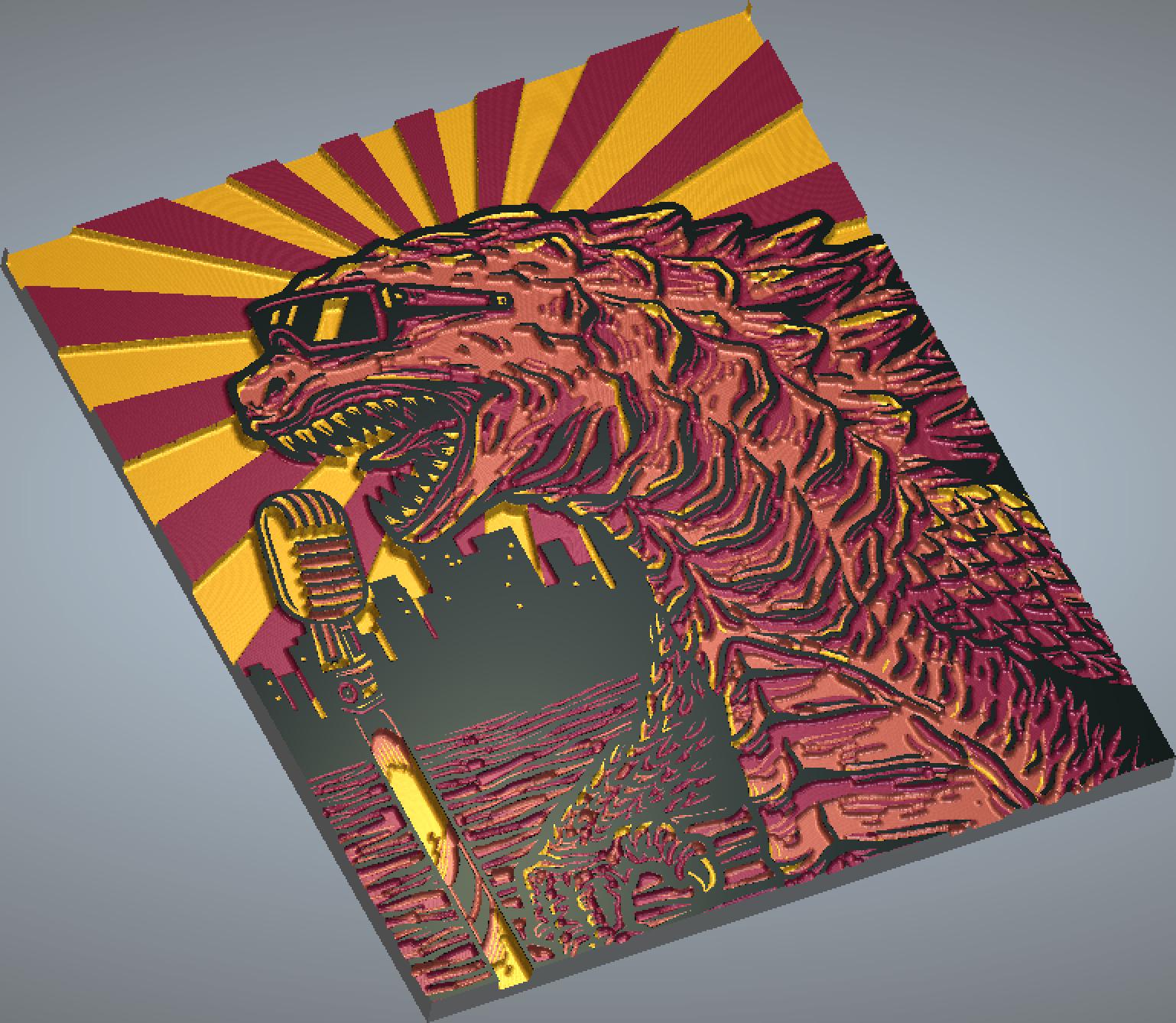 Godzilla Monster of Rock