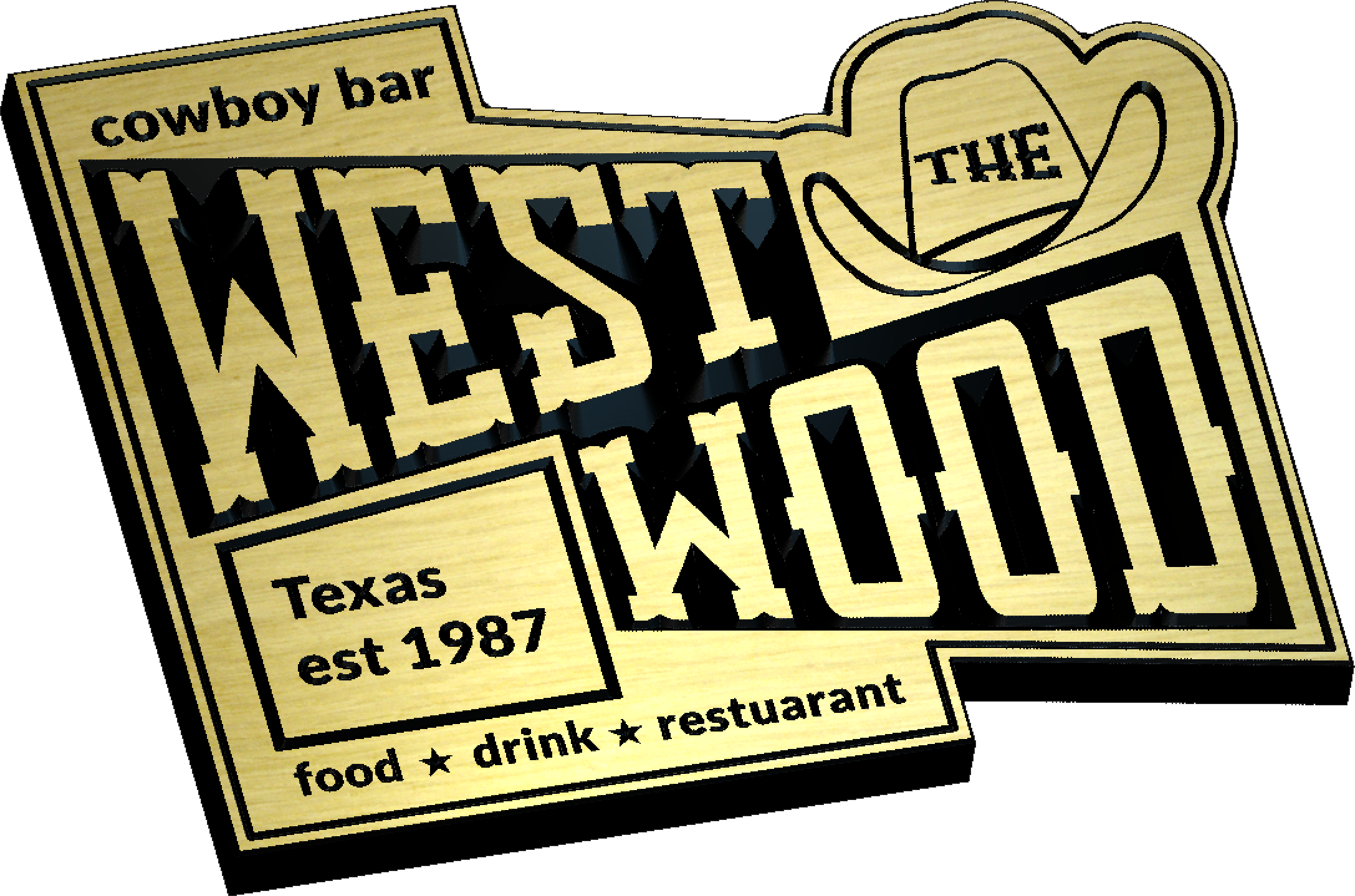 West Wood Sign in Carveco Maker