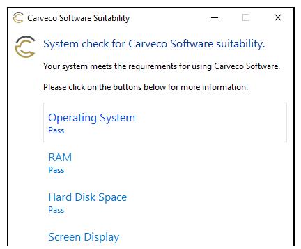 Carveco Suitability Check